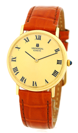 "Image of ""Universal Geneve Classique 18K Yellow Gold Strapwatch"""