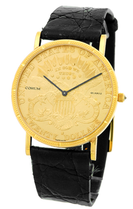 "Image of ""Corum 1895 Twenty Dollar U.s. Coin 18K Yellow Gold Mens Watch"""