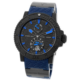 Ulysse Nardin Maxi Marine Diver Azure Black DLC Steel & Titanium Mens Watch