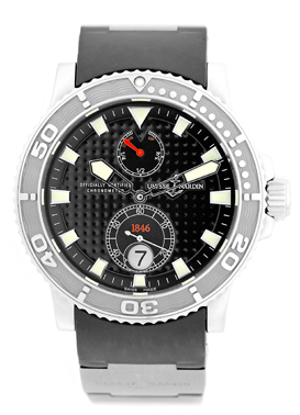 """Image of """"Ulysse Nardin Maxi Marine Diver Stainless Steel Strap Watch"""""""