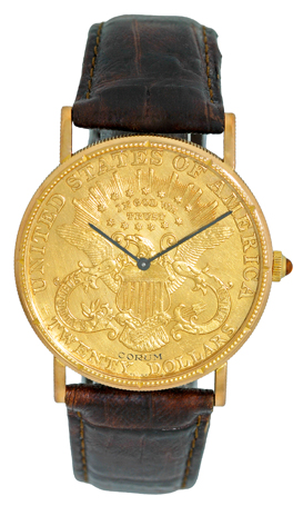 "Image of ""Corum 1904 Twenty Dollar U.s. Coin Dress 18K Yellow Gold Watch"""