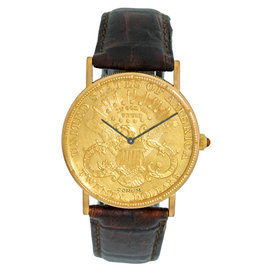 Corum 1904 Twenty Dollar U.S. Coin Dress 18K Yellow Gold Watch