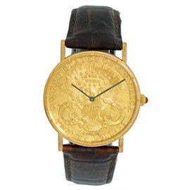 Corum 1904 Twenty Dollar U.S. Coin Dress 18K Yellow Gold Watch