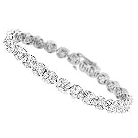 18K White Gold 11.08ctw Illusion Diamond Tennis Bracelet