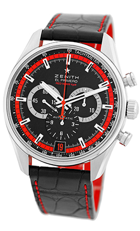 "Image of ""Zenith El Primero Red 36,000 VpH 03.2043.400 Stainless Steel Mens"""