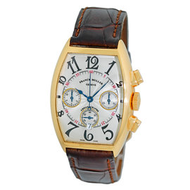 Franck Muller Cintree Curvex 18K Yellow Gold Chronograph Mens Watch
