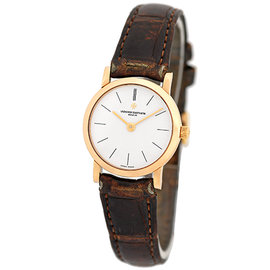 Vacheron Constantin Patrimony Classique 18K Rose Gold Strap Womens Watch
