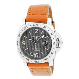 Panerai PAM 29 A Luminor GMT Stainless Steel 44mm Mens Strap Watch