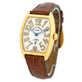 Franck Muller Cintree Curvex Sunset 18K Yellow Gold Womens Watch
