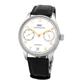 IWC Portuguese 7 Day IW5001-14 Stainless Steel & Leather 42mm Watch