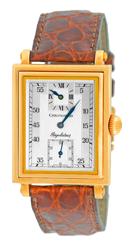 "Image of ""Chronoswiss Ch2951 Regulateur Rectangulaire 18K Yellow Gold Mens Watch"""
