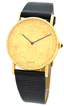 "Image of ""Corum 1899 U.s. $20 Coin 18K Yellow Gold Watch"""