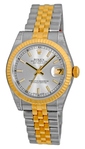 "Image of ""Rolex Datejust Stainless Steel & 18K Yellow Gold Silver Dial"""