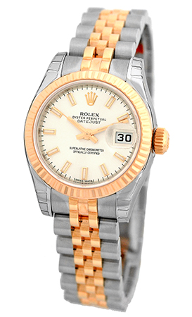 """Image of """"Rolex Datejust Stainless Steel & 18K Rose Gold 26mm Womens Watch"""""""