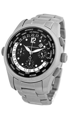 "Image of ""Girard Perregaux World Timer 49800.t.21.6546 Titanium Black Dial"""