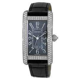 Cartier Tank Americaine WB710002 18K White Gold Automatic 23mm Womens Watch