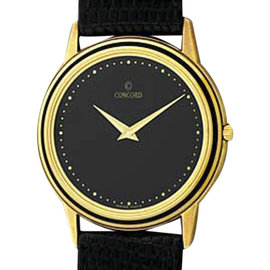Concord Classique 14K Yellow Gold Round Case Dress Mens Watch