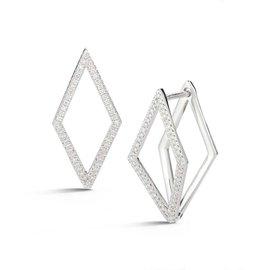 Cutout Elongated Diamond Earrings