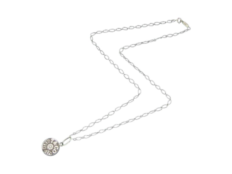 Tiffany & Co. 18K White Gold Oval Link Chain Necklace