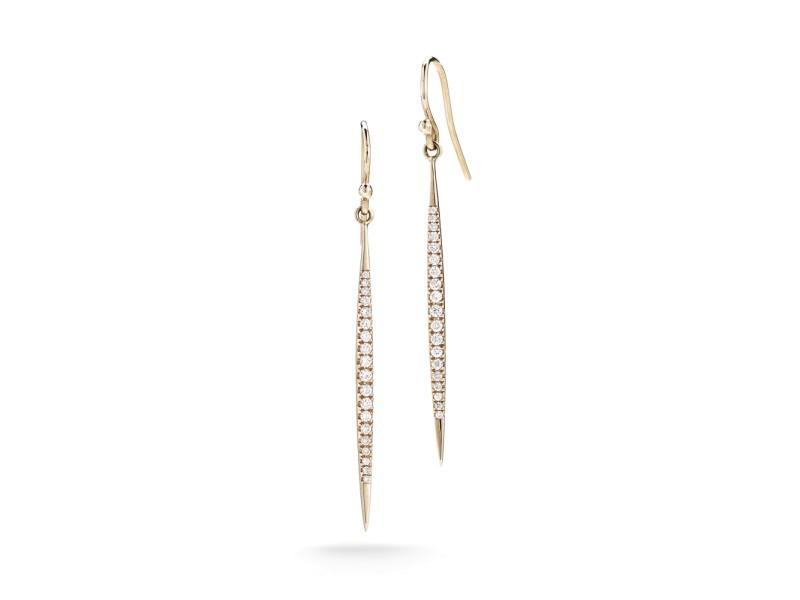 14K Rose Gold Stiletto Earrings