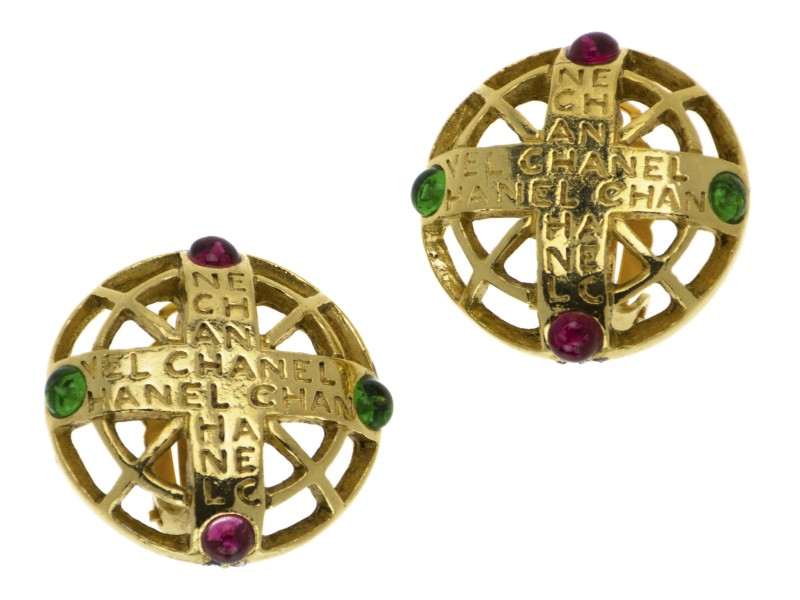 Chanel Gripoix Byzantine Earrings