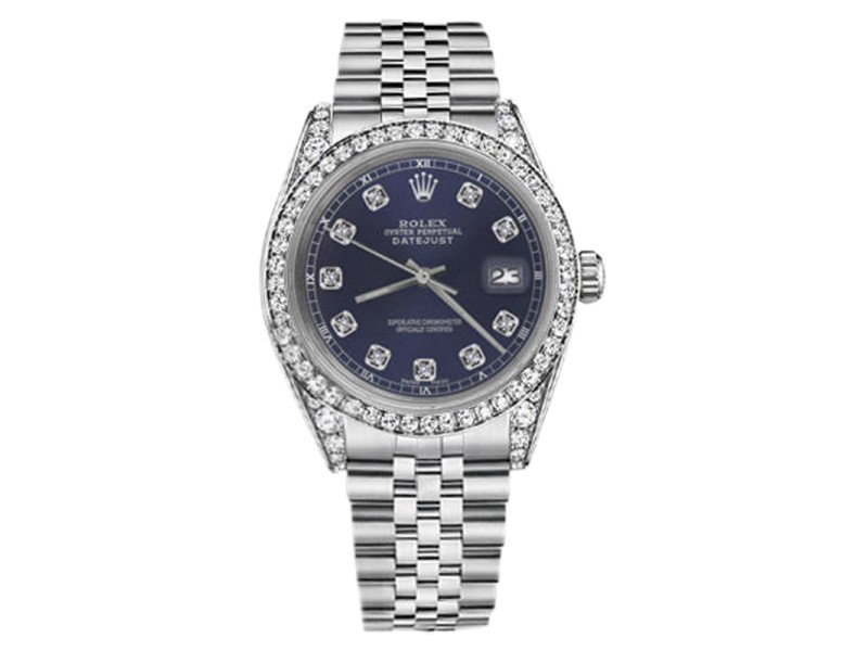 Rolex Datejust Stainless Steel with Navy Blue Dial 36mm Unisex Watch