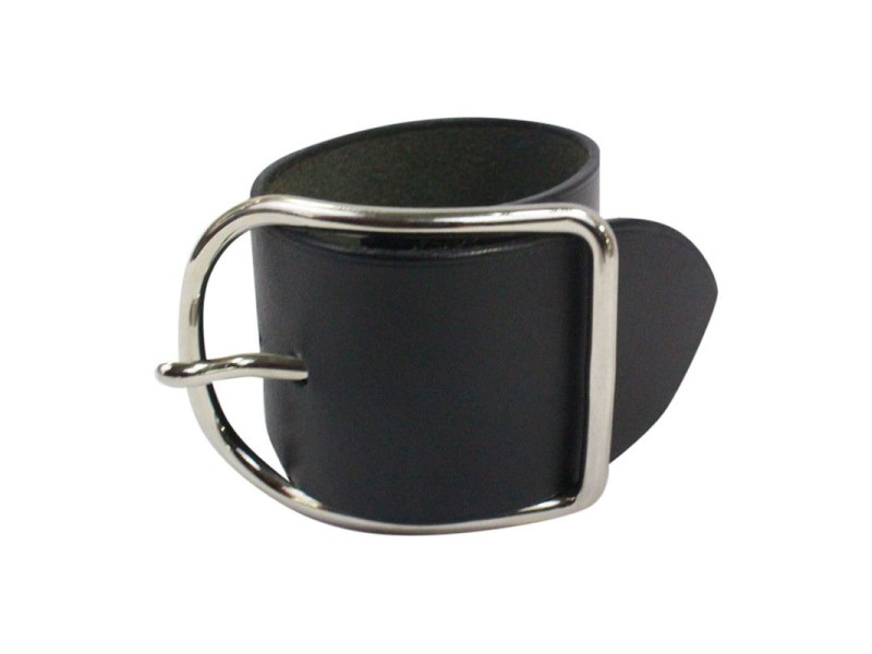 cheap hermes bags online - Hermes Wide Cuff Bracelet Black Leather With Palladium Belt Buckle ...