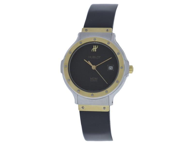 Hublot MDM Geneve 1393.2 Two Tone 18K Gold Steel Quartz Date 28mm Womens Watch