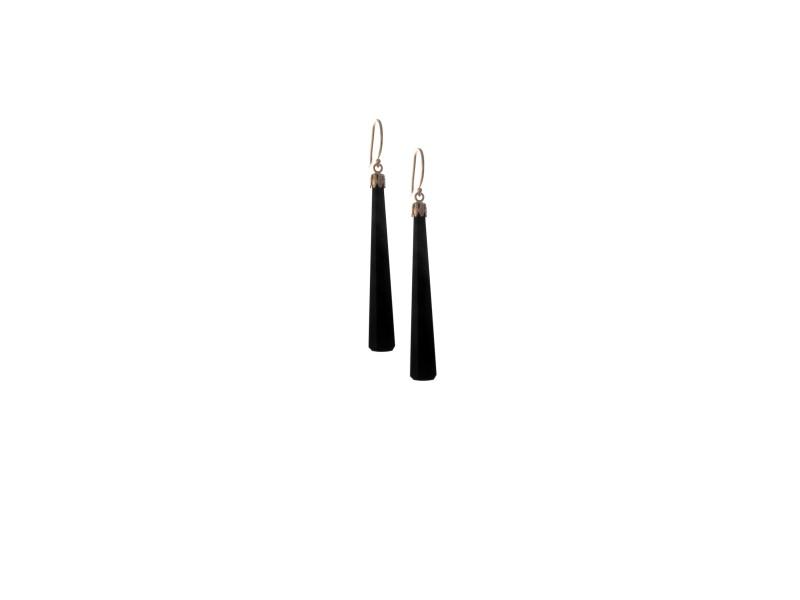 14KY Black Onyx Drop Earrings