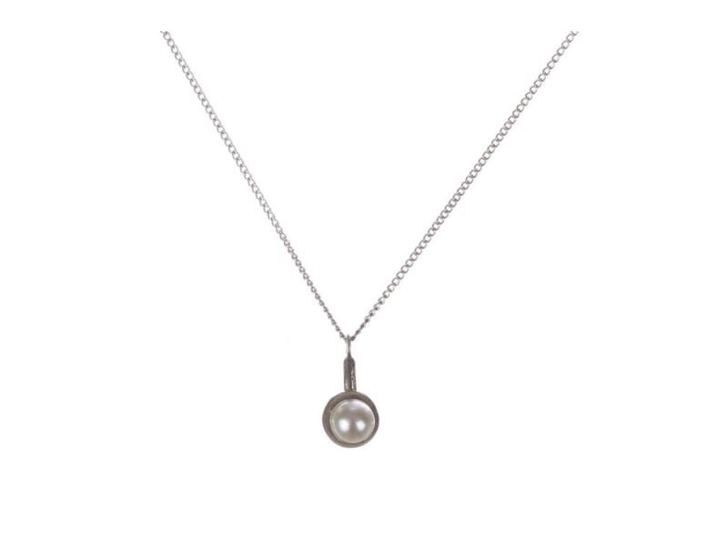 Alberto Juan Sterling Silver Futuristic Pearl Necklace