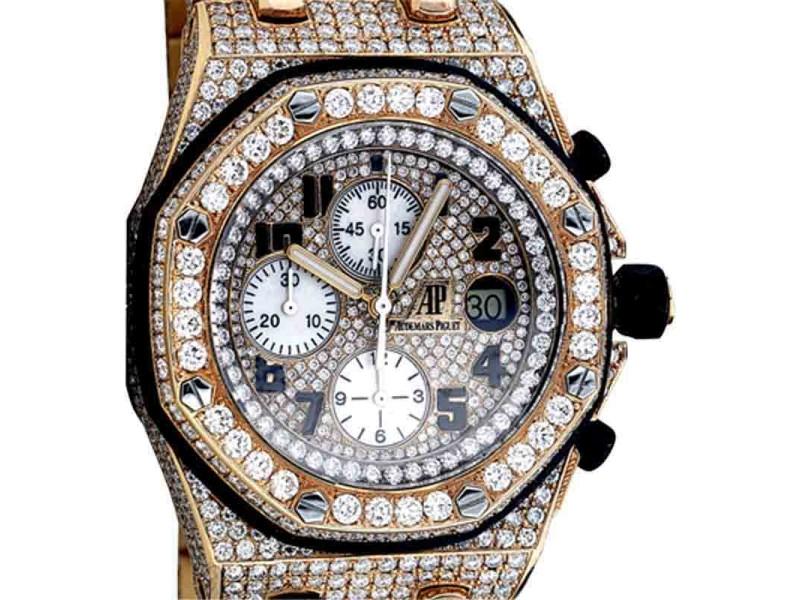 Audemars Piguet Royal Oak Offshore 18K Rose Gold and Diamonds 44mm Watch