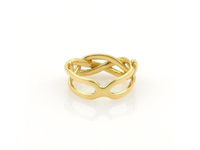 Tiffany & Co 18K Yellow Gold Infinity Band Ring
