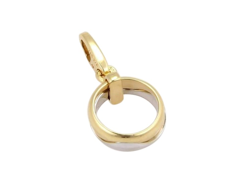 cartier 18k two tone gold stack ring pendant