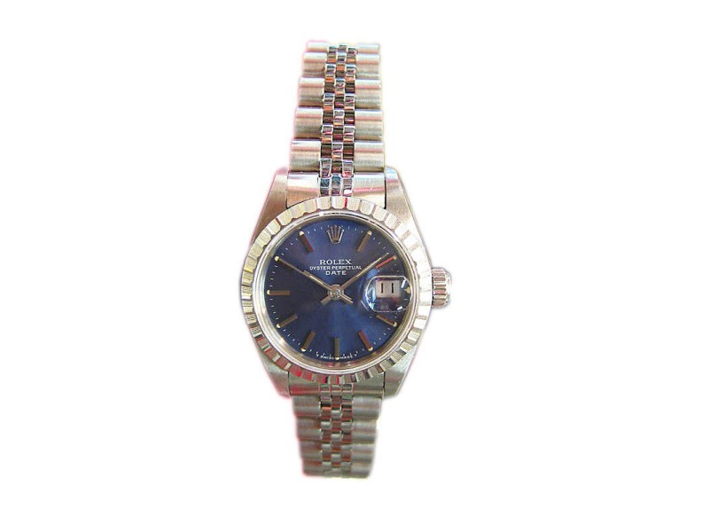 Rolex Oyster Perpetual Date Stainless Steel 25mm Womens Watch