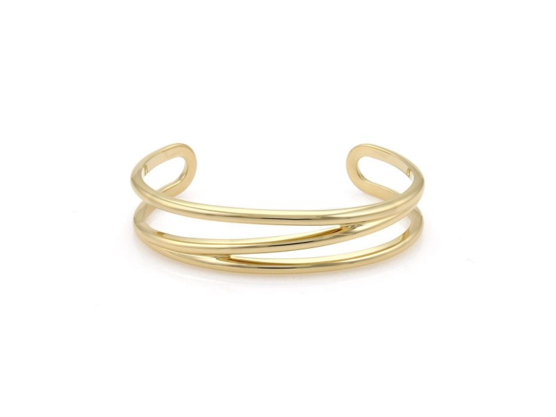 Tiffany & Co. Vintage 18K Yellow Gold Open Cuff Band Bracelet