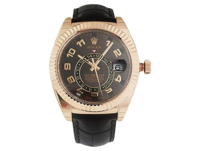 Rolex 326135 Sky Dweller Oyster Perpetual Rose Gold Watch