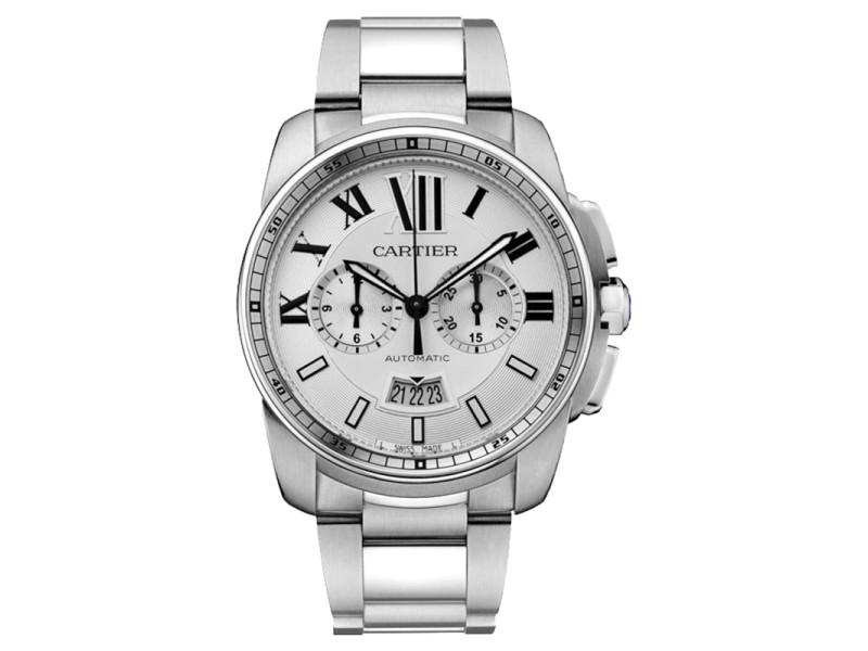 Cartier Calibre de Cartier Chronograph W7100045 Steel Watch