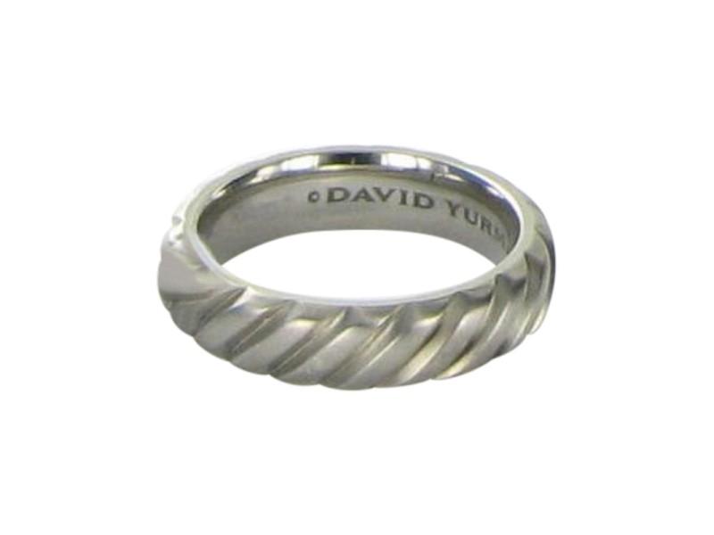 David Yurman Gray Modern Cable Titanium Band Ring