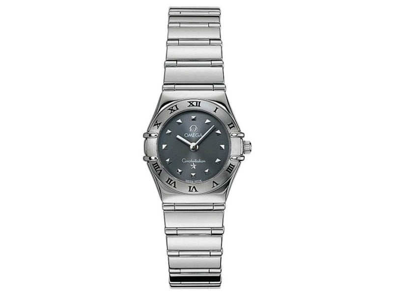 Omega Constellation 57469106 Stainless Steel Grey Dial Bracelet Womens Watch