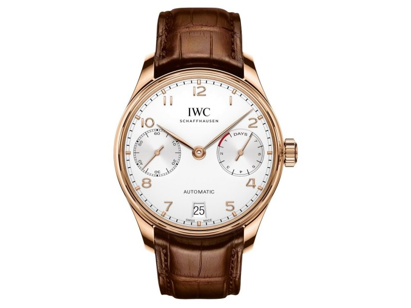 IWC Portugieser iw500701 18K Rose Gold Automatic 42.3mm Mens Watch
