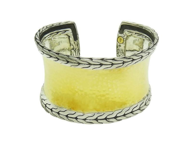 John Hardy 22K Yellow Gold & Sterling Silver Palu Cuff Bracelet