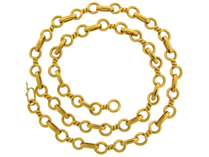 Bulgari 18K Yellow Gold Nice Heavy Link Chain Necklace