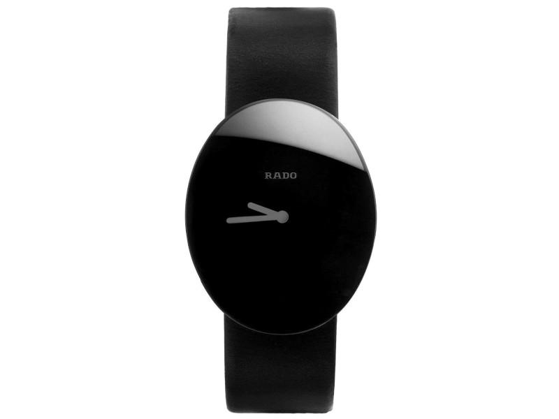 Rado Esenza 9640493 Black Leather Quartz Womens Watch