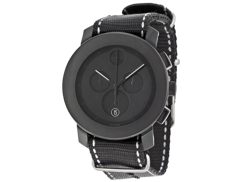 Movado 3600308 Black Stainless Steel / Nylon 43.50mm Unisex Watch