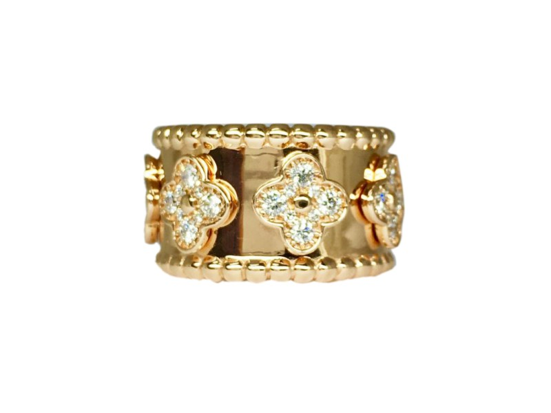 18K Rose Gold 1.26ct Diamond Band Size 8