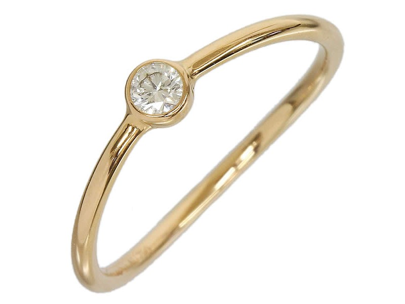 Tiffany And Co. 18K Pink Gold Wave Diamond Ring