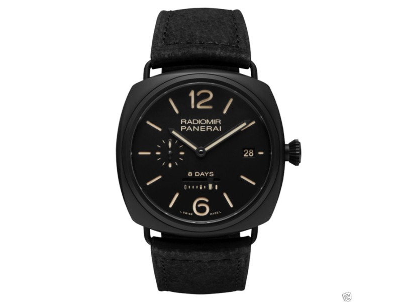 Panerai Pam384 Radiomir Ceramic 8-Days PAM 384 45mm Watch