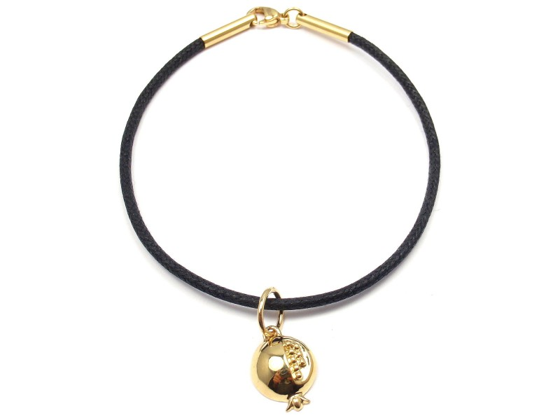 Temple St. Clair 18K Yellow Gold Pomegranate Charm Cord Bracelet
