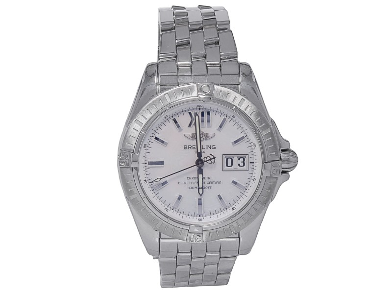 Breitling A49350 Windrider Cockpit Stainless Steel Date Automatic Men's Watch