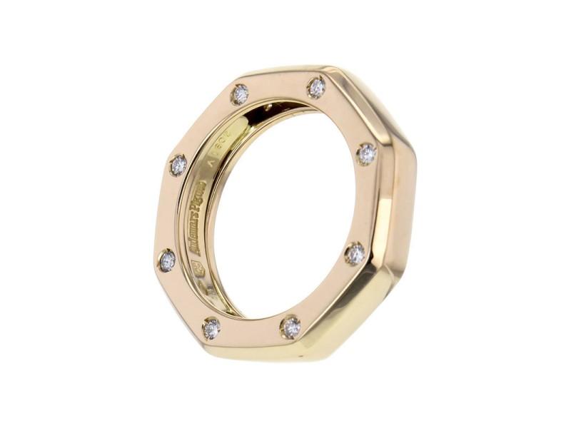 Audemars Piguet 18K Rose Gold Royal Oak Diamond Narrow Band Ring